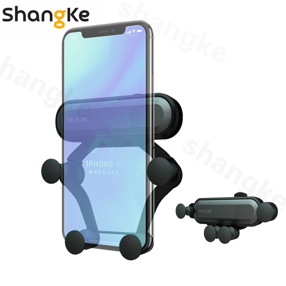 Universal Car Phone Holder For Phone In Car Air Vent Mount Stand  Mobile Phone Holder Gravity For IPhone XS XR X 8 SamsungS8 S7