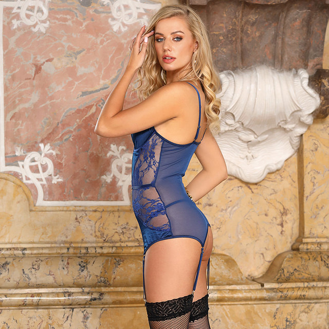 Sexy Lingerie Set With Metal Buckle Plus Size #F1637 5