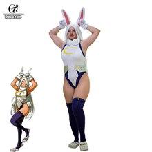 ROLECOS Mein Hero Wissenschaft Cosplay Kostüm Kaninchen Hero Miruko Sexy Overall Boku keine Hero Wissenschaft Bunny Girl Cosplay Strampler Anzug