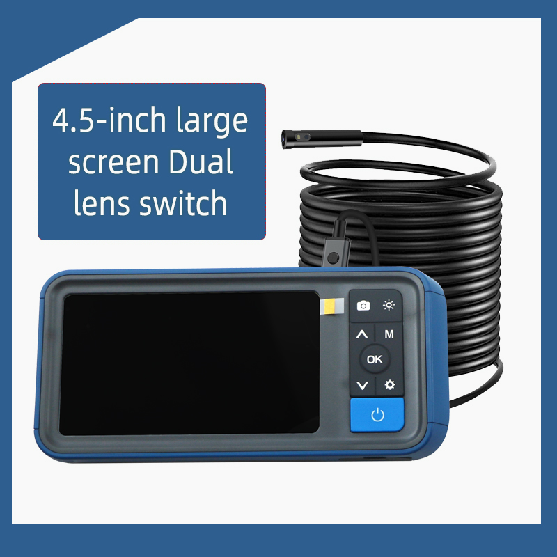 NTS dual lens industrial endoscope HD 1920P 5MP mini waterproof inspection camera 5mm 2/5 / 10M borescope
