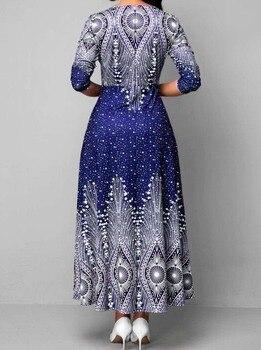 4XL 5XL Plus Size African Long Maxi Dresses Women 2020 African Clothes Africa Dress Print