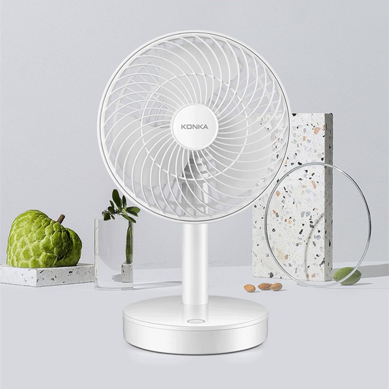 Mini Leafless Fan Small Ultra Quiet Office Home Student Dormitory Creative Portable USB Dual File Adjustable