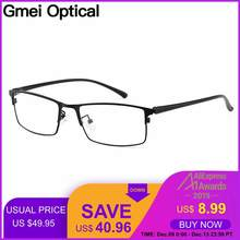 Gmei Optical Men Titanium Alloy Eyeglasses Frame for Men Eyewear Flexible Temple Legs IP Electroplating Alloy Material Y2529(China)