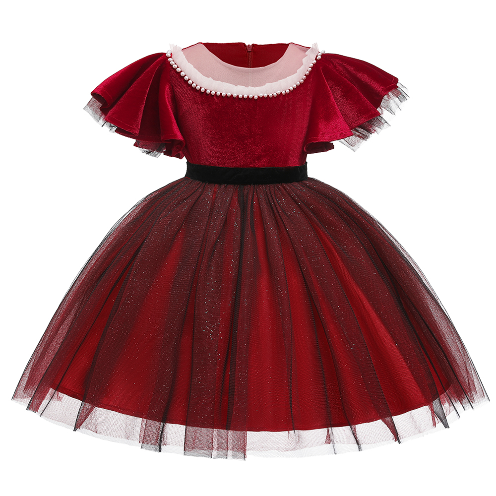 Fashion Kids Dresses For Girls Pleuche  Children Clothing Falbala Stars Tutu Girls Casual School Wear Princess Party Dress 1