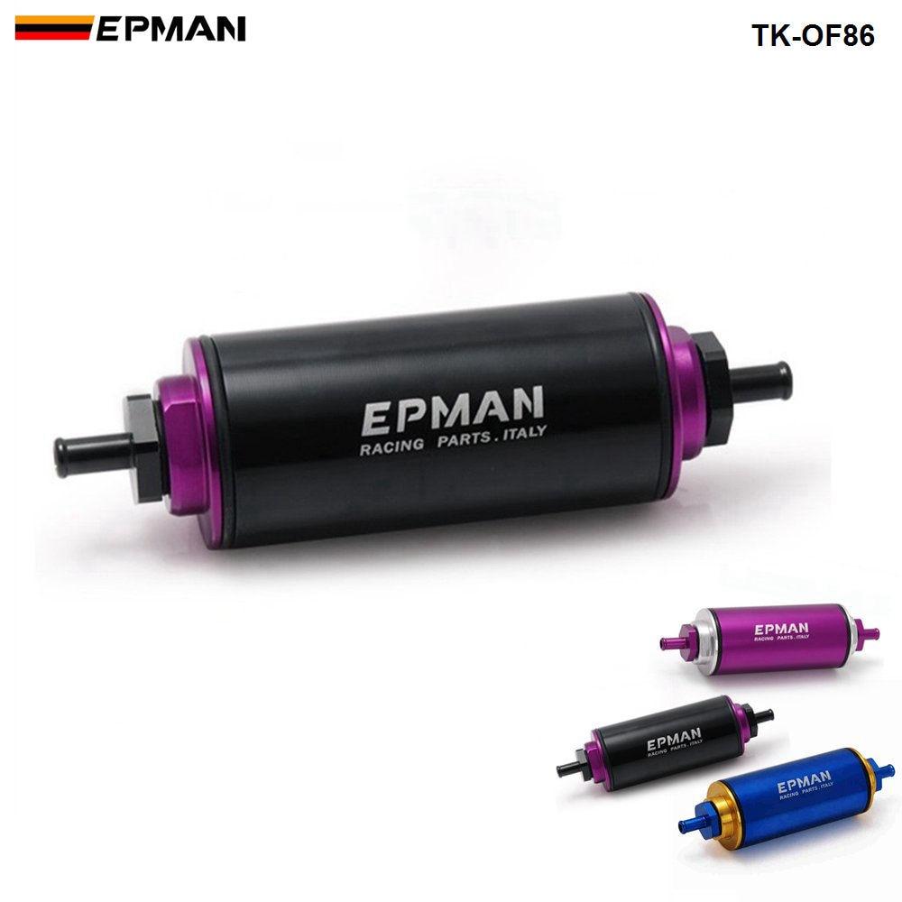 Спортивный EPMAN гоночный готовый встроенный топливный фильтр OD: 8,6 мм синий с элементом 100 микрон TK-OF86