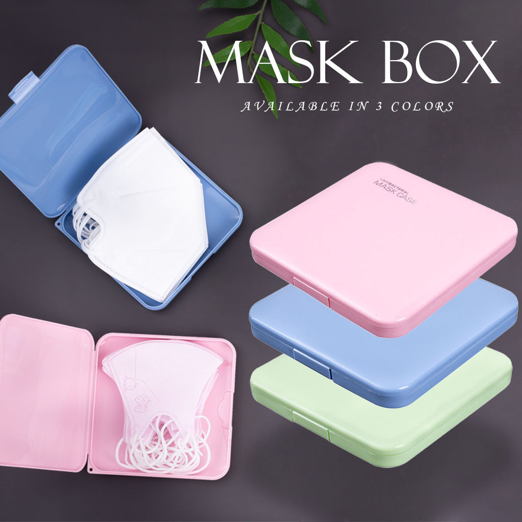 2 PCs Portable Disposable Face Masks Organizer Dustproof Moisture-Proof Cover Holder Mask Storage Seal Box Household Accessories