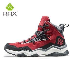 Image 4 - を RAX 男性登山靴の冬の防水屋外スニーカー男性革トレッキングブーツトレイルキャンプクライミングスニーカー革の靴