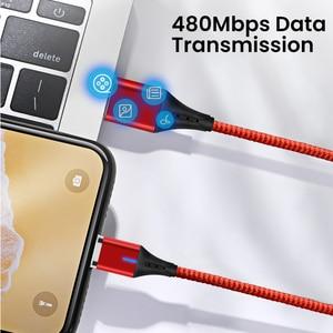 Image 5 - Amzish 3a magnético micro cabo usb para iphone samsung tipo de dados c cabo usb magnético carregador rápido tipo c para o cabo de carregamento do telefone