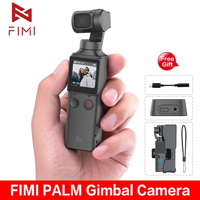 IN STOCK! FIMI PALM <font><b>Camera</b></font> 3-Axis <font><b>4K</b></font> HD Handheld <font><b>Gimbal</b></font> <font><b>Camera</b></font> Stabilizer 128° Wide Angle Smart Track Built-in Wi-Fi control image