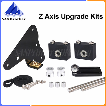 3D Printer Parts Upgrade Kit Creality Ender 3/CR-10 Dual Z axis use with single stepper motor CR10 Dual Z Tension Pulley set newest 1 5m cables stepper motor double z axis cord line 3d printer parts for cr 10 cr 10s cr 10x cr 10pro ender 3