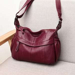 Image 3 - MOLIHUAKAI Soft Leather Women Messenger Bag Casual Womens Shoulder Crossbody bag Female Handbag Black Bolsa Feminina Girl Bags