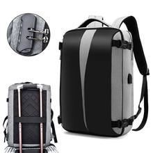 Рюкзак для ноутбука 17 дюймов с защитой от кражи, мужские и женские сумки, дорожная водонепроницаемая черная Дорожная сумка с USB зарядкой и защитой от кражи
