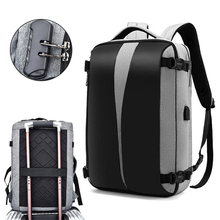 Anti Theft Backpack 17 Inch Laptop Bagpack Women Men Bags USB Charger Back Pack Travel Waterproof Anti theft Bag Mochila Black