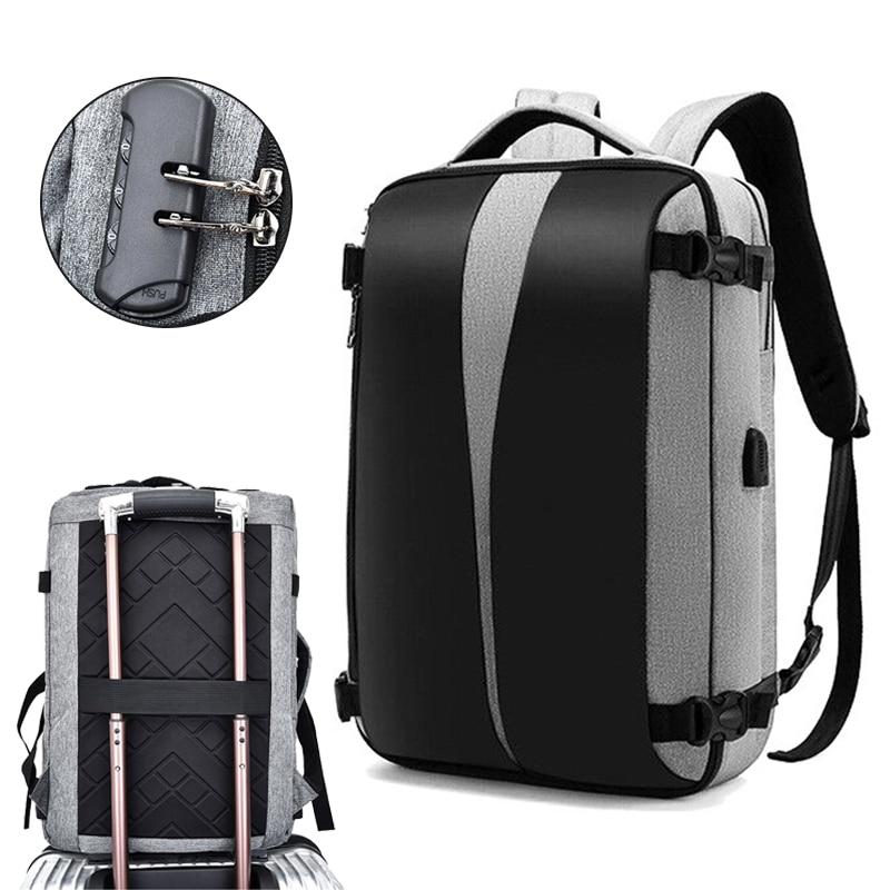 Anti Theft Backpack 17 Inch Laptop Bagpack Women Men Bags USB Charger Back Pack Travel Waterproof Anti-theft Bag Mochila Black