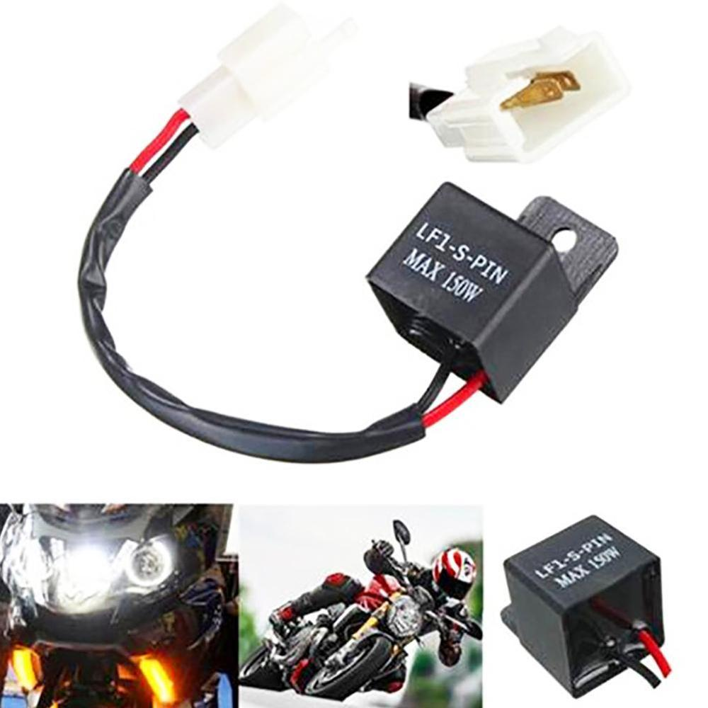 NEWLY Motorcycles Waterproof 2 PIN Turn Light Motorcycle Indicators LED Lamp Flasher Relay Turn Signal Rate Control Blink Relay