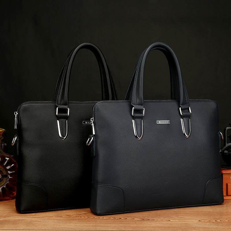 Nouveaux hommes en cuir européen et américain Documents d'affaires loisirs sac à main Agent d'approvisionnement ordinateur diagonale en cuir sac pour hommes