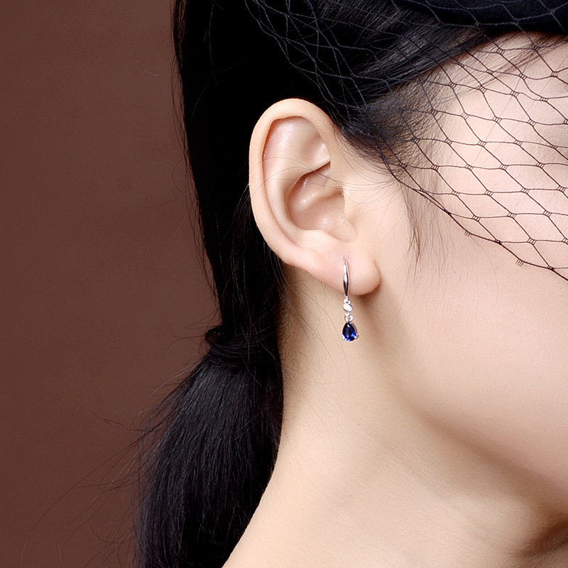 H4654461962564e04b8297509ba4d8d5cm - Jellystory Trendy Silver 925 jewelry Earring with Water Drop Shaped Sapphire Gemstones Earrings for Women Weddings Party Gifts