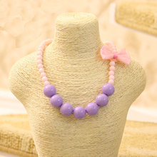 Toys Necklace Pearl DIY Girls Kids Children Cute for Candy-Color Simulated Choker 1pc