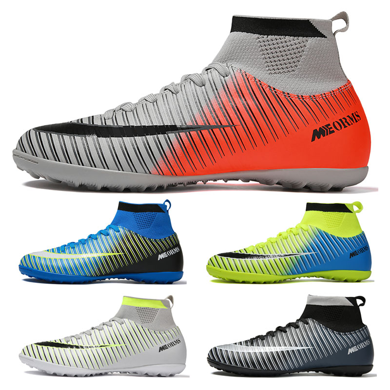 Indoor Soccer Shoes For Men Original Training Football Shoes Breathable Turf Soccre Boots Kids Sport Cleats Futebol Chuteiras
