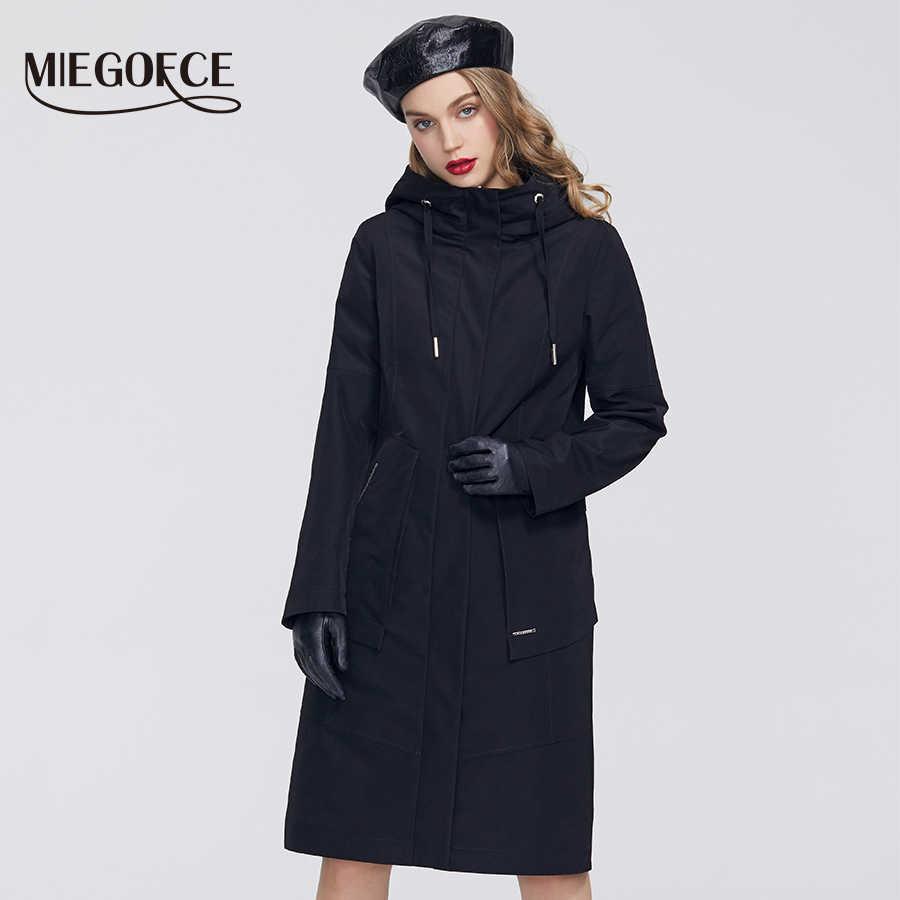 MIEGOFCE 2020 Frühling Neue Kollektion Frauen Windjacke mit Kalten mantel mit Beständig Mantel und Kapuze Casual für Fashionistas