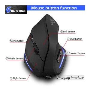 Image 4 - Drahtlose Maus Vertikale Maus Ergonomische Optische 2400 DPI 6 Tasten ergonomische Mause für Windows MAC OS für computer laptop