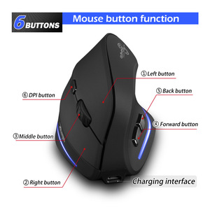Image 4 - Wireless Mouse Vertical Mouse Ergonomic Optical 2400 DPI 6 Buttons ergonomic Mause for Windows MAC OS for computer laptop