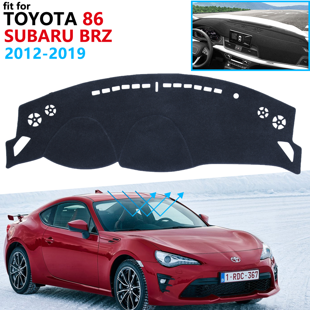Dashboard Cover Protective Pad For Toyota 86 GT86 FT86 Scion FR-S Subaru BRZ 2012~2019 Accessories Dash Board Sunshade Carpet