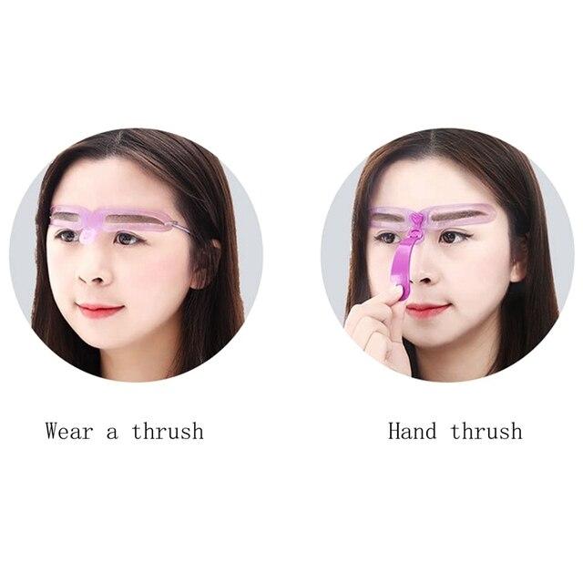 makeup reusable eyebrow template template eyebrow shaper makeup eyebrow mold modeling template card makeup beauty tools 2