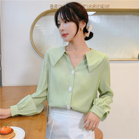 blusa de mujer women new blouses 2019 korean office ladies elegant and tops autumn winter long sleeve white chiffon shirts A5494