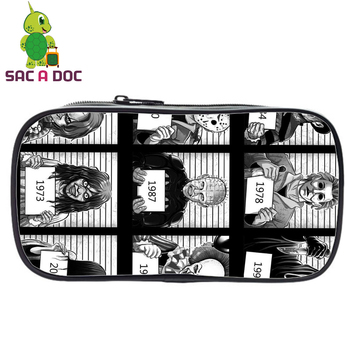Horrorible Killers Girls Cosmetic Cases Pencil Holder Horrorible Movies Children School Case Make Up Stationery Bag Toilet Bag haoyun 12 constellations prints pattern make up bag women cosmetic bag student pencil case children kid school stationery box