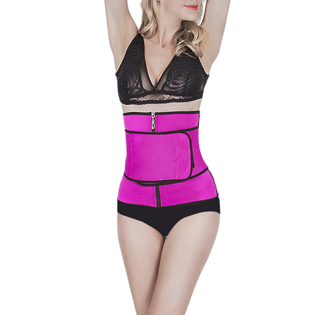 Free Ship !  New  Waist Trainer Neoprene Belt Weight Loss Cincher Body Shaper Tummy Control Strap Slimming Sweat Fat Burning LWT 3