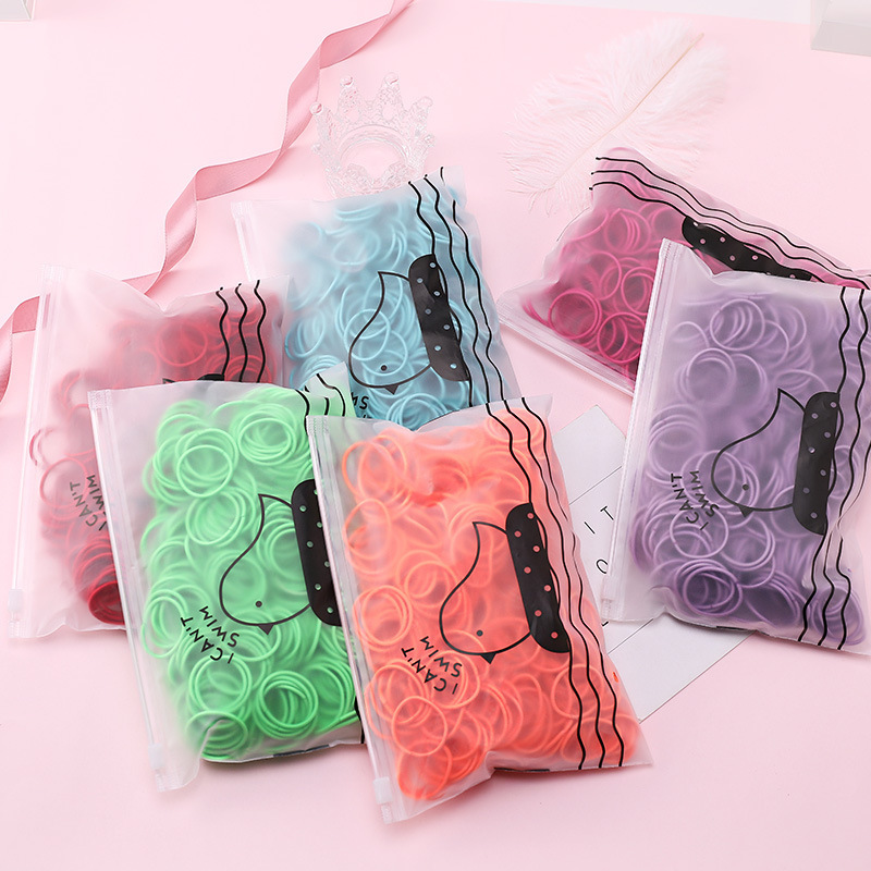 1000pcs Colors Girls Baby Hair Ring Rope Headwear Scrunchies Elastic Hair Band Kids Hair Accessories for Women Fashion Hair Tie