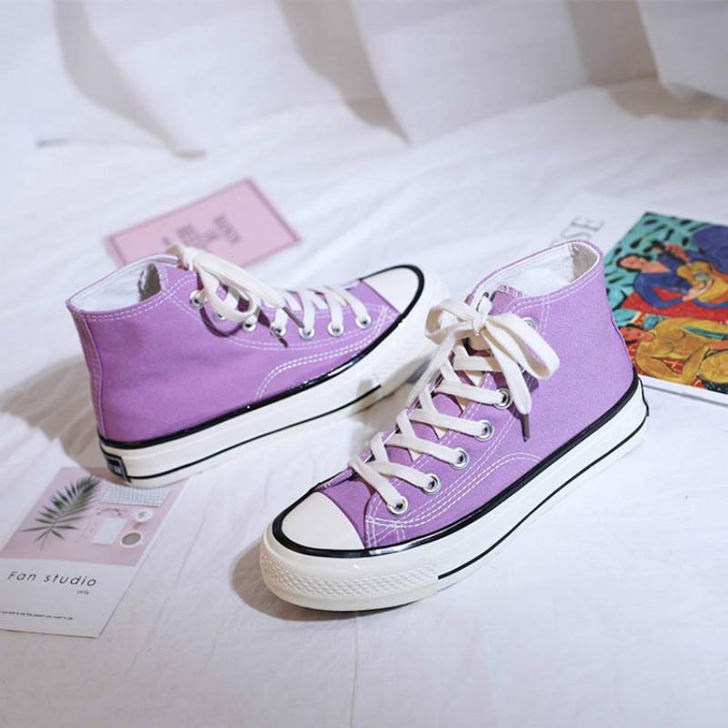 Casual Shoes Women Lavender Solid Color