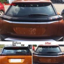 Tonlinker dış araba arka Logo kapak kılıf sticker Peugeot 2008 2020 için araba styling 3 adet paslanmaz çelik kapak çıkartmalar