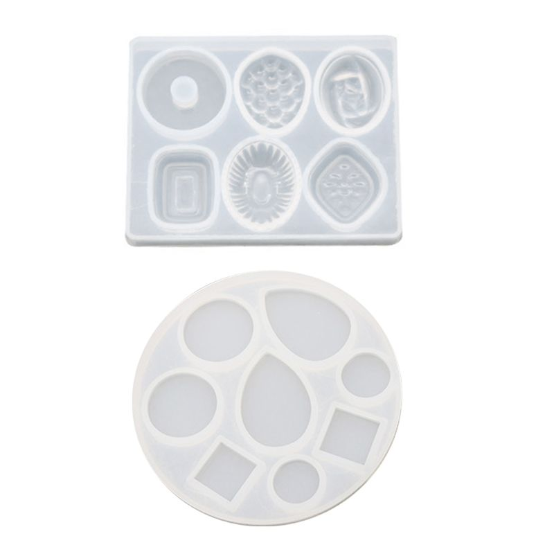 DIY Crafts Making Crystal Epoxy Mold Earrings Candy Mould High Mirror UV Resin Silicone Molds Jewerly Making