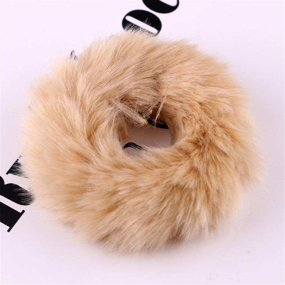 Новые зимние теплые мягкие резинки из кроличьего меха для женщин и девушек, эластичные резинки для волос, плюшевая повязка для волос, резинки, аксессуары для волос - Цвет: 26