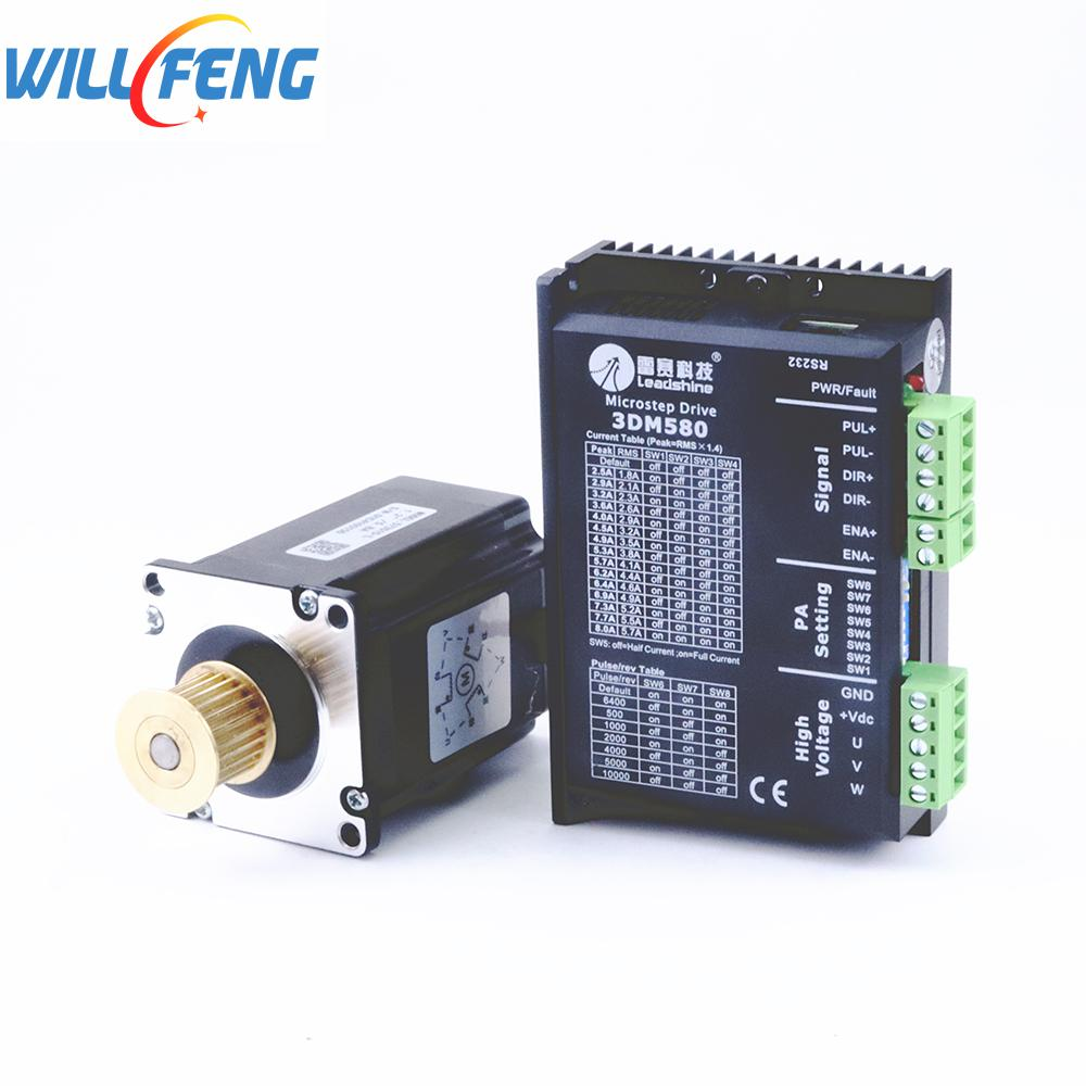 Will Feng Leadshine Stepper Motor Driver 3DM580 And Stepper Motor 573S15-L 4Pcs /set For Co2 Laser Engrave Machine