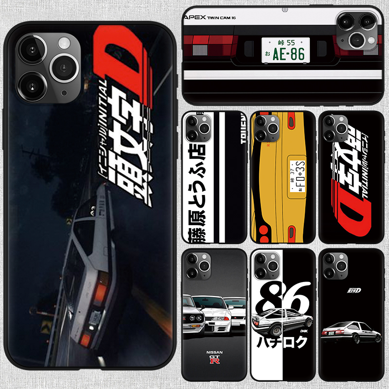 Japan Anime Initial D Car taillight Case For iPhone 11 Pro X XR XS Max 6 6s 8 7 Plus SE 2020 2 Super Car AE86 Soft Silicon Cover
