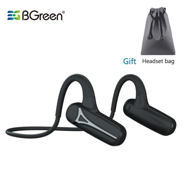 BGreen Bluetooth Open Ear Sport Cycling Headphone Waterproof Sports Running Earphones Super Light Wireless Stereo Hiking Headset