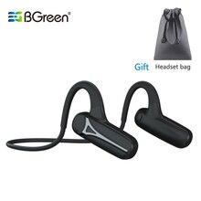 BGreen Bluetooth otwarte ucho sportowe słuchawki rowerowe wodoodporne sportowe słuchawki do biegania Super lekki bezprzewodowy zestaw słuchawkowy Stereo