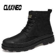 Buy CLAXNEO Man Leather Boots Autumn Winter Men Boot Plush Fur Warm Male Shoe High Top Casual Walking Footwear Big Size directly from merchant!