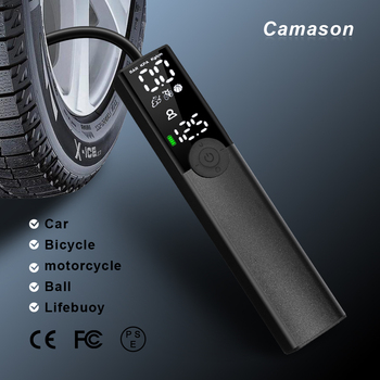 Camason Car automatic compressor tire inflator air pump Portable for car tire Motorcycle Bicycle basketball Inflatable
