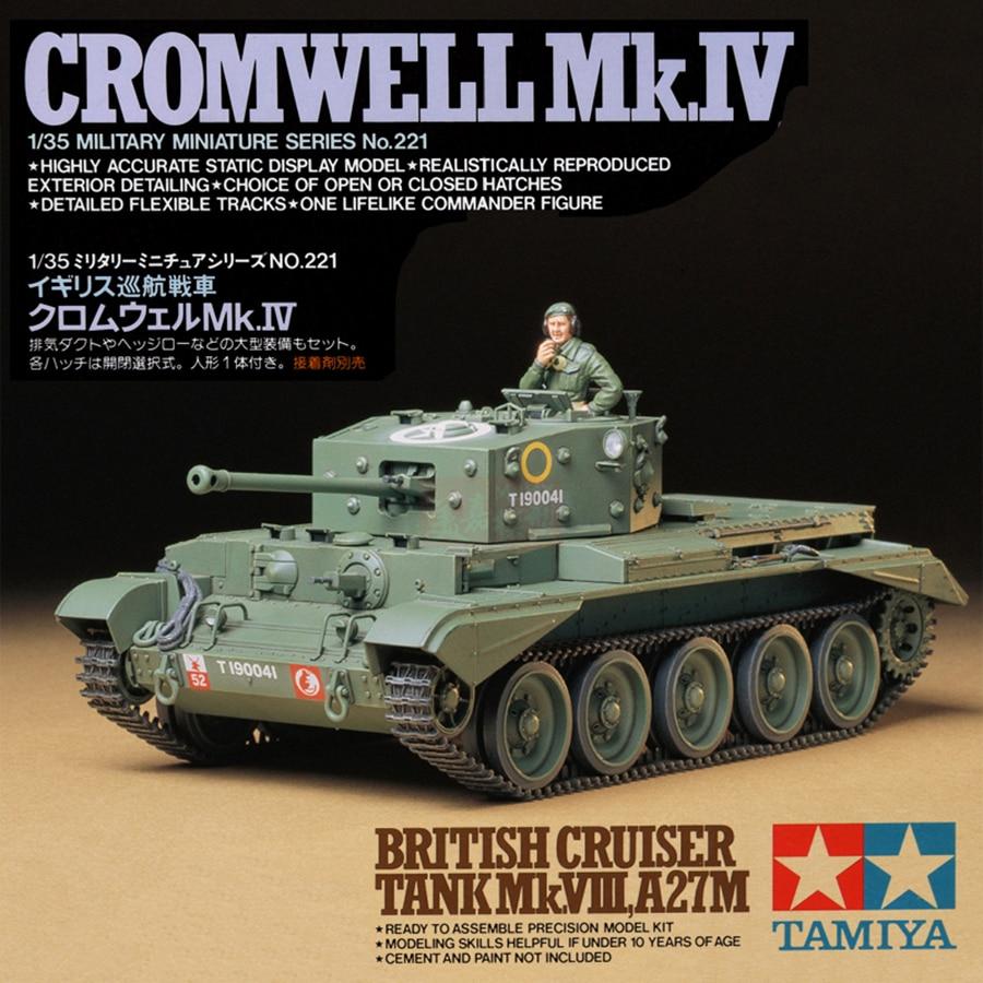 Tamiya 35221 Model Building Kits 1/35 Cromwell Mk.IV British Cruiser Tank Mk VIII A27M Military Assembly Toys For Children Kids