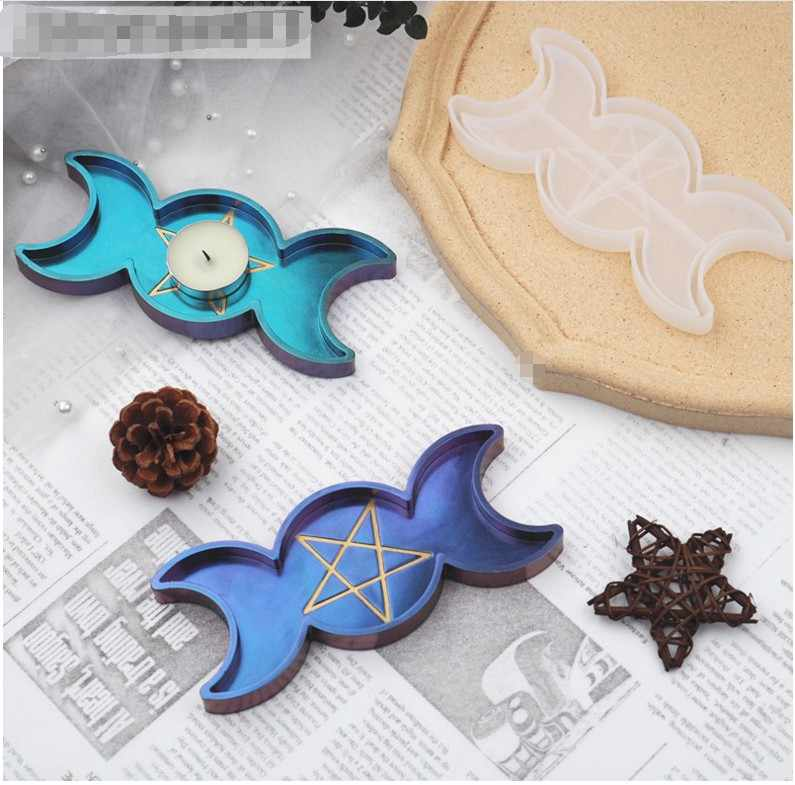 Jewelry Making Tools Transparent Palm Resin Mold Dish Plate Silicone Mould