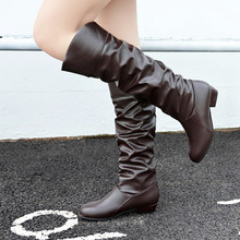 Sexy Autumn Shoes Woman Over The Knee Boots Girls Fancy Dress High-heel Women Boots Bright Patent Leather Long Boots 43