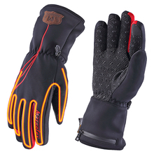 Autumn Winter Motorcycle Gloves  Heated Guantes Moto Touch Screen Battery Powered Waterproof Motorbike Racing Riding Gloves Men
