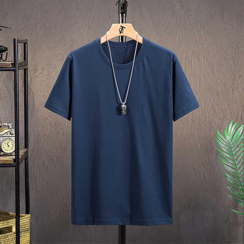 T 셔츠 남성 100% 코튼 티셔츠 여름 티셔츠 탑스 티셔츠 루스 반소매 오목 캐주얼 브랜드 블랙 화이트 Dropshipping