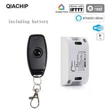 QIACHIP 433Mhz RF bezprzewodowy inteligentny zegarek wi fi pilot przełącznik AC 110V 220V moduł automatyki DIY zegar uniwersalny inteligentny dom