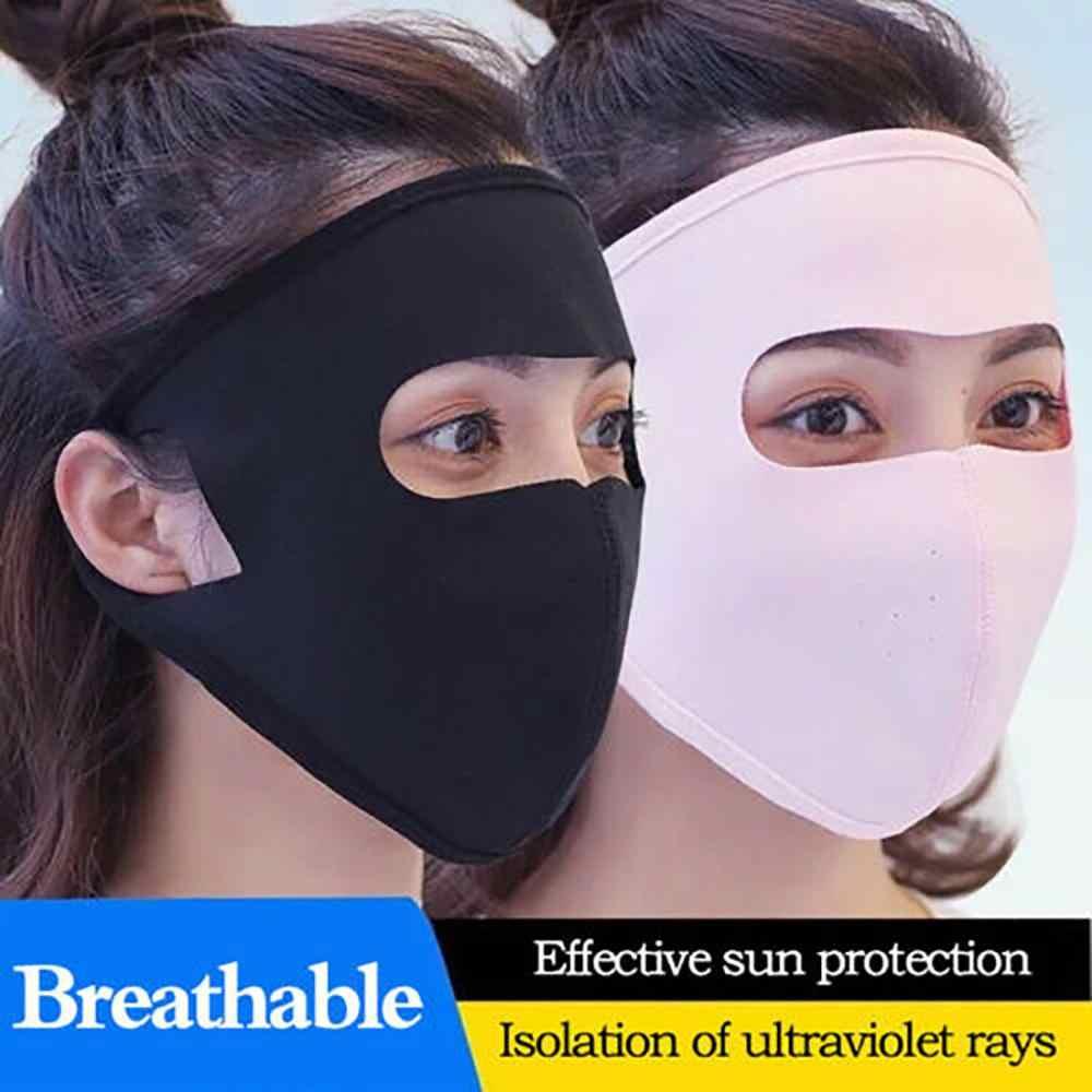 Estate Sport occhiali da Sole UV di Protezione Ultra Sottile Protezione Solare Esterna Completa Viso Maschera del Cotone di Estate Traspirante Proteggere La Pelle