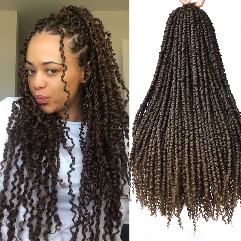 24 Inch Passion Twist Hair Pre-Twisted Synthetic Braiding Hair Fluffy Spring Bomb Crochet Hair Extensions For Black Women